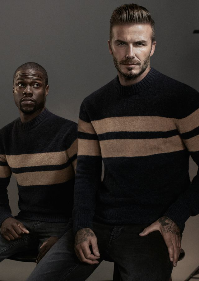 David Beckham and Kevin Hart star in new H&M campaign For his new H&M campaign, David Beckham has teamed up with actor and comedian Kevin Hart to give a humorous take on the world of Beckham himself. In the campaign, for the new Modern Essentials selected by David Beckham autumn 2015 collection, Hart plays a method actor preparing to take on the role of Beckham. The video will debut on hm.com on 28 September, and in cinemas and on TV on 30 September, alongside a print and billboard campaign. Featuring: David Beckham, Kevin Hart When: 24 Sep 2015 Credit: Supplied by WENN.com **WENN does not claim any ownership including but not limited to Copyright, License in attached material. Fees charged by WENN are for WENN's services only, do not, nor are they intended to, convey to the user any ownership of Copyright, License in material. By publishing this material you expressly agree to indemnify, to hold WENN, its directors, shareholders, employees harmless from any loss, claims, damages, demands, expenses (including legal fees), any causes of action, allegation against WENN arising out of, connected in any way with publication of the material.**